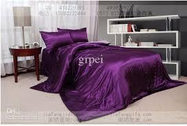 Best King Sheets Purple Pink Silk Comforter Bedding Set King Queen Size Comforters