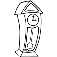 grandfather clock with pine case colouring page colouring tube