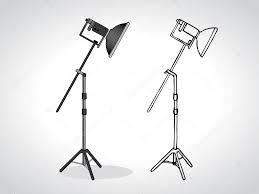 photo studio beauty dish stand u2014 stock vector wall 70048731