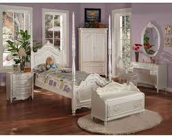 Teenage White Bedroom Furniture Acme Furniture Bedroom Set In Pearl White Ac01000tset Children