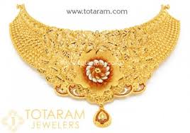chokers necklace gold images 22k gold choker necklaces indian gold jewelry buy online jpg