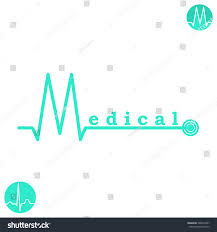m letter logo template medical medicine stock vector 300453797
