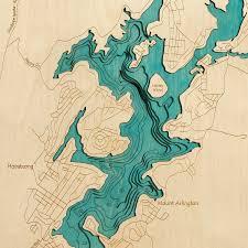 Map Of Lake Geneva Wi 3d Laser Carved Wood Lake Maps Lakehouse Lifestyle