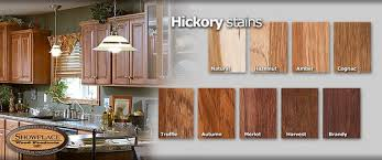 Stained Hickory Cabinets Cabinet Woods And Finishes From Showplace Hickory Kitchen