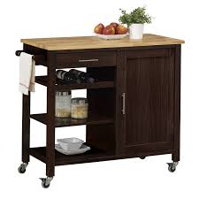 kitchen storage carts cabinets 4d concepts 53653 calgary cart with wood top kitchen island