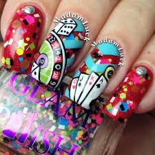 las vegas inspired nail art vegas nailsart