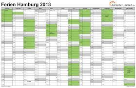 Kalender 2018 Hessen Din A4 Ferien Hamburg 2018 Ferienkalender Zum Ausdrucken