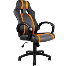 auchan pc bureau fauteuil chaise de bureau ergonomique gamer pc siège noir rembourée