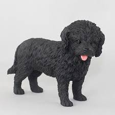 cockapoo painted collectible figurine black