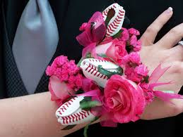 pink corsages for prom baseball themed prom sports roses your for sports