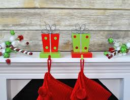 gift box christmas stocking hanger christmas stocking holder