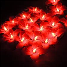 Red Heart Fairy Lights by Thailand Billy Constant Star Flowers Led String Lights Christmas
