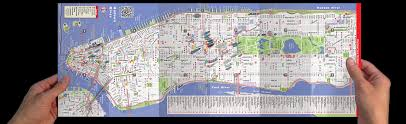 map of nyc streets streetsmart nyc midtown manhattan map by vandam laminated