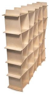 25 cubby wave modern wood bookcase bookcases by sprout quark