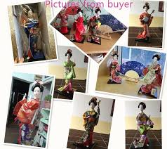 Free Shipping Home Decor Freeshipping Crafts Beautiful Japanese Culture Geisha Kimono Doll