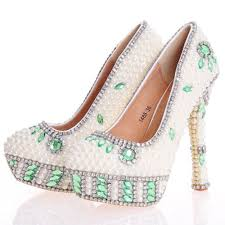 Wedding Shoes Online Uk Crystal Pearl Closed Toe Stiletto Heel Wedding Shoes Cheap Online