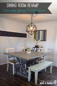 Farmhouse Table Lighting by Dining Room Revamp U2022 Our House Now A Home