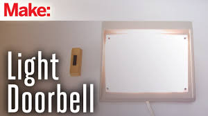 wireless doorbell system with light indicator how to make a flashing light doorbell youtube