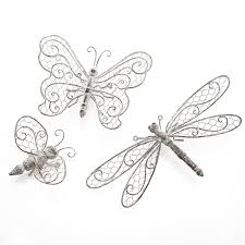 butterfly dragonfly or bee wall decor by the