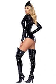 Bat Woman Halloween Costumes by Black Vinyl Bodysuit Bat Woman Costume Upscalestripper Com