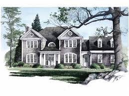 one colonial house plans colonial house plan htons square one level plans eplans