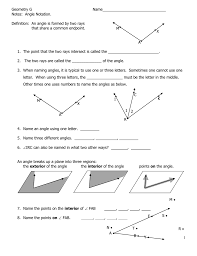 Angle Bisectors Worksheet Chapter 3 Angles