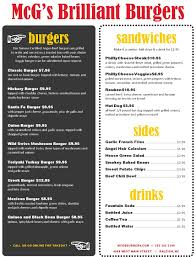 backyard burger menu musthavemenus restaurant ideas