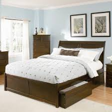 Platform Bed With Storage Underneath Furniture Dark Brown Leather Plat Form Bed With Head Board And