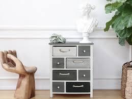 chambre en osier mobili commode meuble de rangement 8 tiroirs bois osier