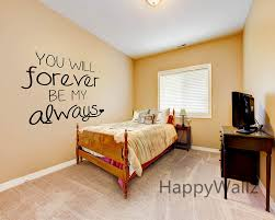 vinyl wall art decals picture more detailed picture about love love quote wall sticker you will forever be my always wall quotes decal diy decorative love