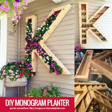 diy monogram planter tutorial remodelaholic bloglovin u0027