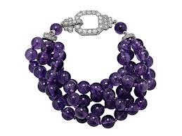 beading bracelet clasp images Art deco amethyst bead bracelet with diamond clasp i 500693 jpg