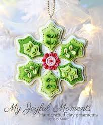 polymer clay snowflake ornaments search ideas