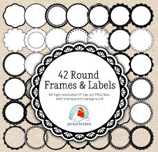 Free Decorative Borders Clip Art Free Scalloped Circle Border Clip Art 66