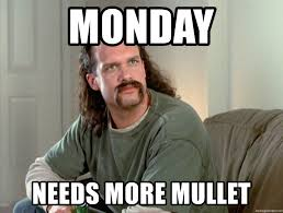 Case Of The Mondays Meme - monday needs more mullet case of the mondays meme generator