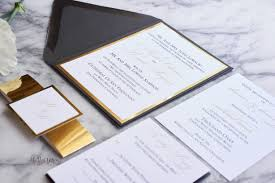 gold foil wedding invitations the suite mirrored foil wedding invitation all that