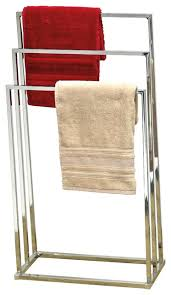 Bathroom Towel Holder Free Standing Square Tube Metal Bathroom Towel Rack 3 Bars Holder