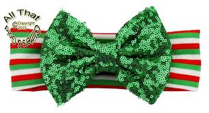 christmas headbands big bow christmas headbands baby green sequin