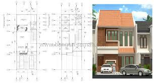 desain rumah lebar 6 meter desain rumah 2 lantai ukuran tanah 6 6 x 18 m2 desain rumah online