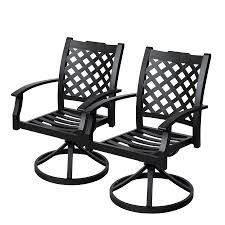 Black Rocking Chairs Lowes Shop Allen Roth Carrinbridge 2 Count Black Aluminum Patio Dining