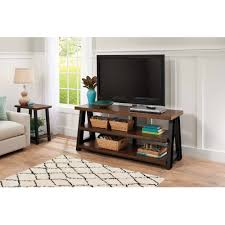 Bedroom Tv Unit Furniture Better Homes And Gardens Mercer 3 In 1 Brown Tv Stand For Tvs Up