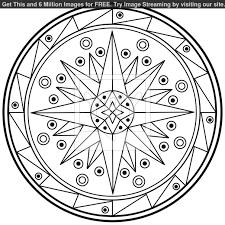 8 best photos of simple geometric mandala patterns free