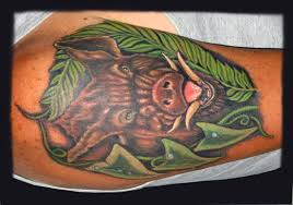 wild pig tattoo picture