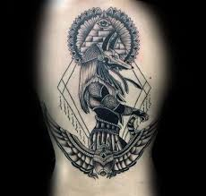 tattoo trends ancient egyptian themed mens anubis upper arm