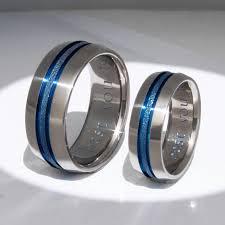 thin blue line wedding band matching thin blue line titanium wedding bands stb16