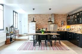 briques cuisine idee peinture cuisine idee cuisine moderne cuisine style industriel