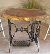 sewing machine table ideas love this wood pinterest repurposed sewing machine tables