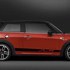 mini cooper porsche mini cooper 2015 f56 side stripes graphics john cooper works porsche