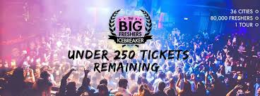the big freshers icebreaker tickets and events fatsoma