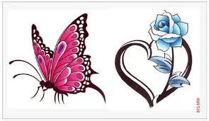 rose heart tattoos reviews online shopping rose heart tattoos